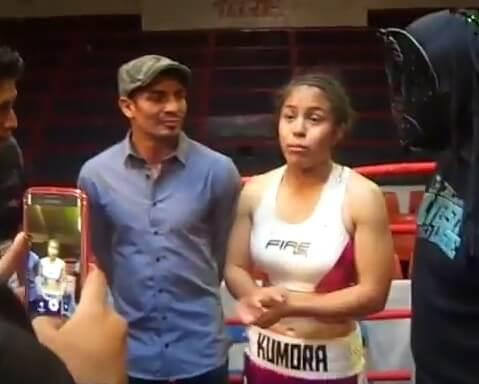 Kumora Badillo boxing